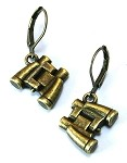 Bronze Binocular Earrings