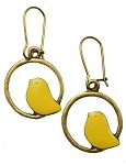 Chartreuse Bird Earrings