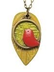 Red Bird Long Necklace