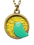 Turquoise Bird Necklace