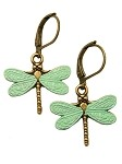 Mint Dragonfly Earrings