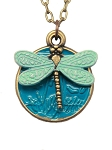 Mint Dragonfly Necklace
