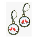 Red Love Birds Earrings