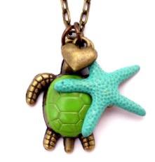 Turtle and Starfish Necklace
