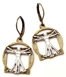 Virtruvian Man Earrings