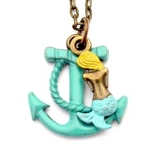 Mermaid and Anchor Necklace