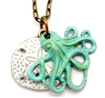 Octopus and Sanddollar Necklace