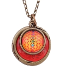 Orange Seed of Life Necklace