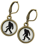Big Foot Glass Photo Earrings