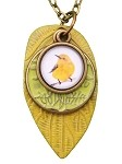 Canary Glass Photo Long Necklace