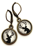 Deer Silhouette Earrings