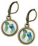 Jellyfish Glass Photo Earrings
