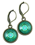 Green Mandala Earrings