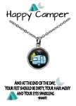 Blue Camper Necklace
