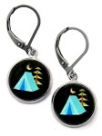 Blue Tent Earrings