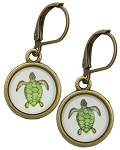Turtle Glass Photo Earrings