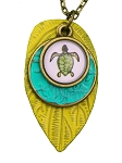 Turtle Glass Photo Long Necklace