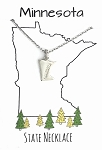 Minnesota State Necklace Silver