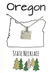 Oregon State Necklace Silver