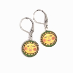Green Sun Earring