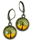 Yellow Tree Earrings