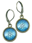 Blue Seed of Life Earrings