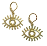 Brass Eye Earrings