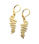 Brass Fern Leaf Earrings