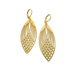 Brass Filagree Earrings