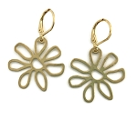 Brass Flower Earrings