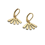 Brass Small Sun Earrings