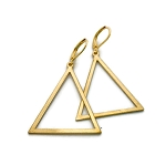 Brass Wide Triangle Earrings