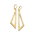 Brass Long Triangle Earrings