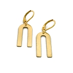 Brass U Shaped Earrings