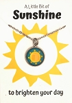 Teal Sunshine Necklace