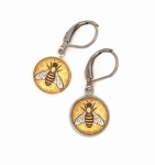 Yellow Bee Earring