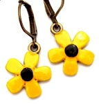 Black eyed-Susan Flower Earrings