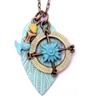 Mermaid and Compass Necklace 28