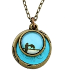 Turquoise Birds Necklace
