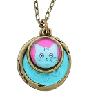 Pink Cat Necklace