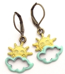 Sun/Cloud Earrings