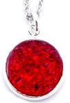 Red Druzy Necklace