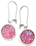 Light Pink Druzy Earrings
