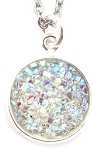 Silver Druzy Necklace