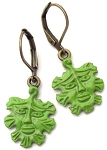 Green Man Earrings