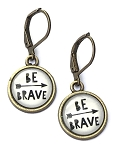 Be Brave Photo Glass Earrings