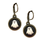 Ghost Photo Glass Earrings
