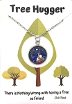 Blue Tree Hugger Necklace