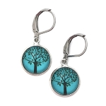 Turquoise Tree Hugger Earrings