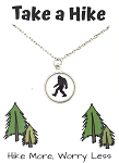 Big Foot Take a Hike Necklace